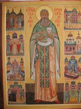 Святой Иоанн Кронштадтский.Житийная икона.